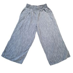 Aerie Cullots, Cropped Twill Flowy Pants